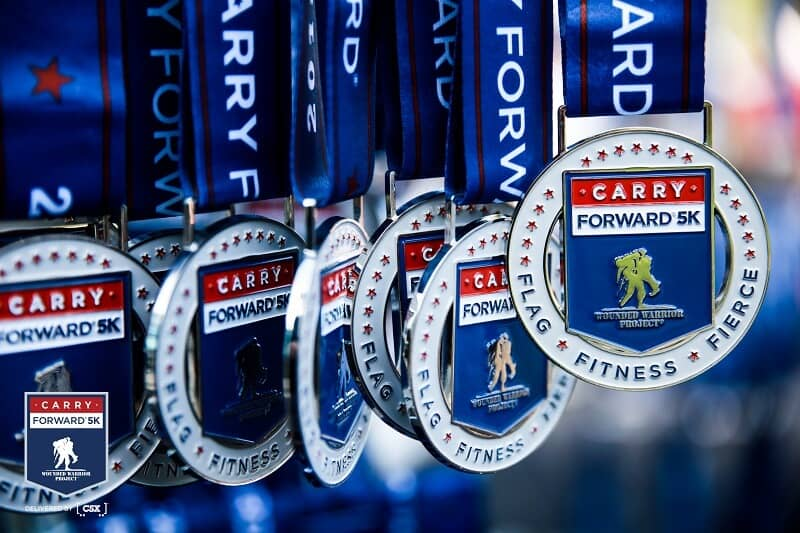 Join the WWP Carry Forward 5K Medals